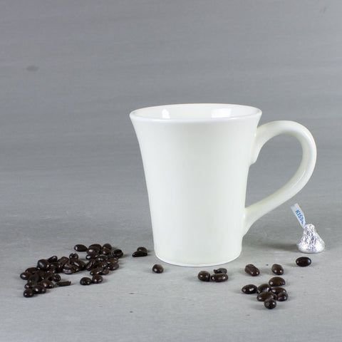 Clean White Conical Coffee Mug