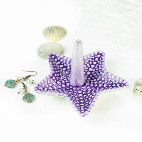 Purple Starfish Ring Holder