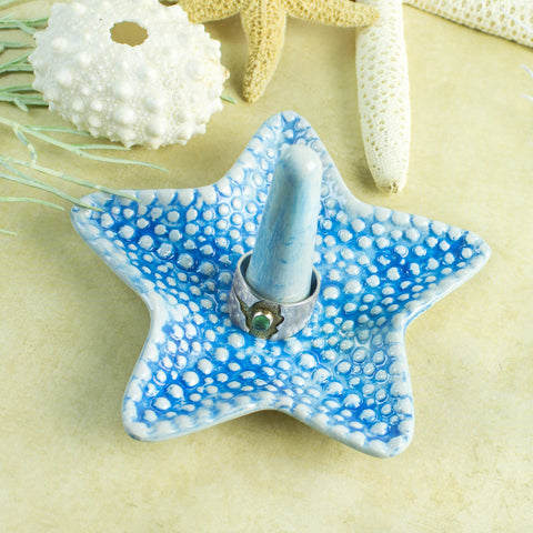 Turquoise Starfish Ring Holder