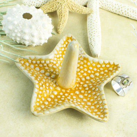 Yellow Starfish Ring Holder