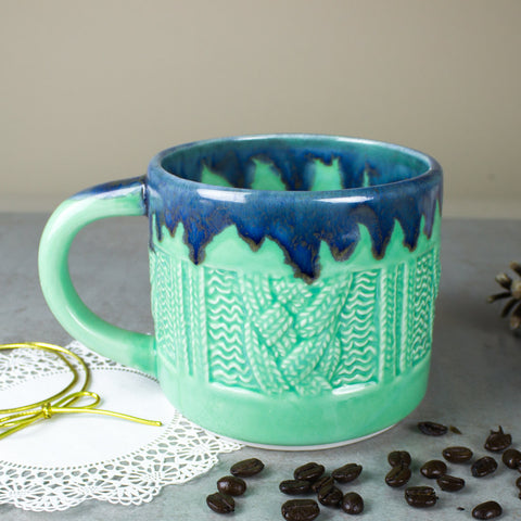 Mint green Sweater Mug Coffee cup