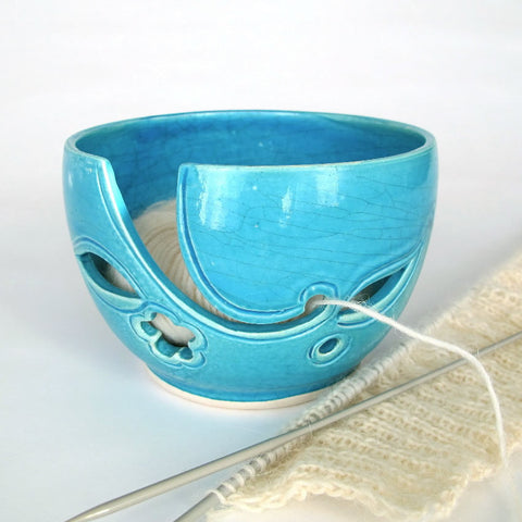 Turquoise Traveling Yarn Bowl