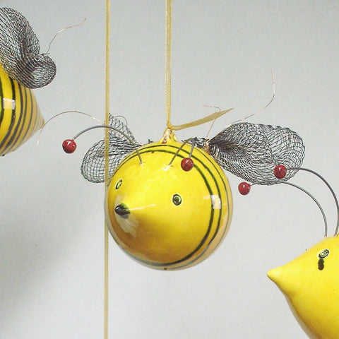 Buzz... buzz... buzz Bee, hanging ornament sculpture