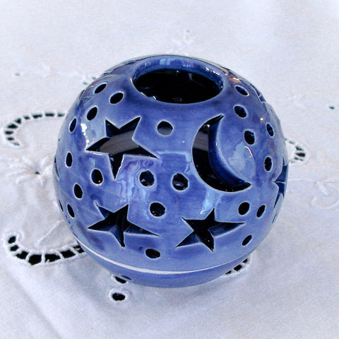 Something blue, candle holder Ceramic Star, Romantic wedding favor, THE ORIGINAL Star Candileria™