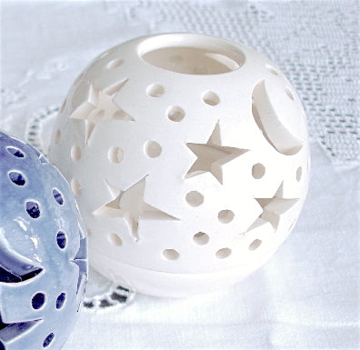 Celestial White Candle holder THE ORIGINAL Ceramics Star Candileria™