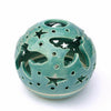 Mint Green Turquoise Candle holder, Handmade Pottery, Ceramics Flying Bee Candileria™