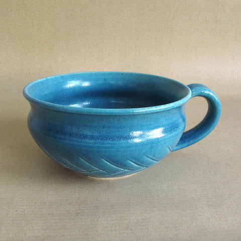 Denim Blue Soup Bowl, Chowder Mug, Multi use Serving Bowl