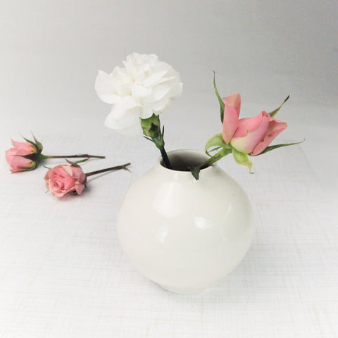 Tiny Cute White Vase