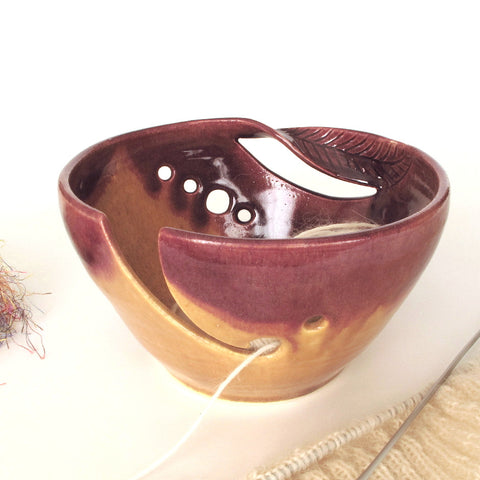 Autumn Gold Yarn Bowl