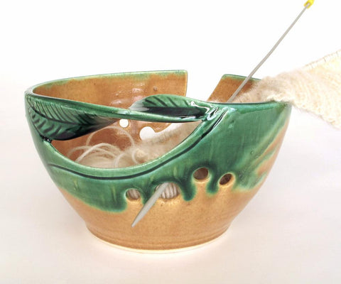 Lime Green Yarn Bowl