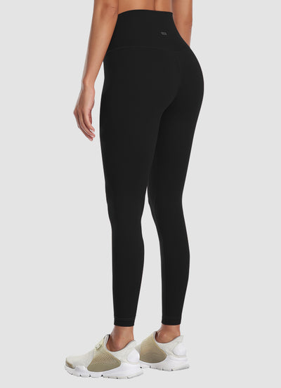 "Newborn High Waist Yoga Leggings 25"" — Black"