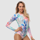 Focus Long Sleeve One Piece Swimsuit — Rainforest - AXESEA