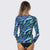 Sur-A Long Sleeve Zip UPF 50 Rash Guard — Tide - AXESEA