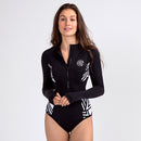 Focus Long Sleeve One Piece Swimsuit — Mystery - AXESEA