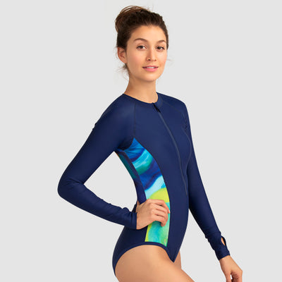 Focus Long Sleeve One Piece Swimsuit — AXESEA x Nine Cats - AXESEA