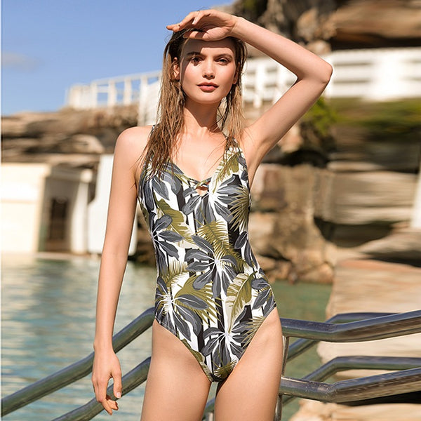AXESEA One Piece Swimsuit — Rainforest