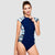 Focus Short Sleeve One Piece Swimsuit — Mystery - AXESEA