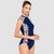 Focus Short Sleeve One Piece Swimsuit — Mystery