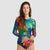 Focus Long Sleeve One Piece Swimsuit — Rainforest