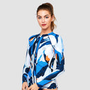 Sur-A Long Sleeve Zip UPF 50 Rash Guard — Mystery