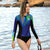 2mm Long Sleeve Bikini Cut Bottom Womens Wetsuit — AXESEA x Nine Cats - AXESEA