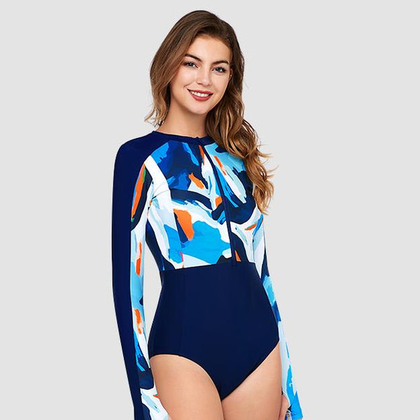 Focus Long Sleeve One Piece Swimsuit — Lost In Pacific