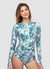 Side Ruching Long Sleeve One Piece Swimsuit — Barbra Ignatiev x AXESEA