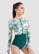 Long Sleeve One Piece Swimsuit — Barbra x AXESEA