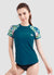 Women Short Sleeve UPF 50 Rash Guard — Barbra Ignatiev x AXESEA