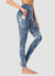 Newborn High Waist Yoga Leggings Full Length — Tie Dye