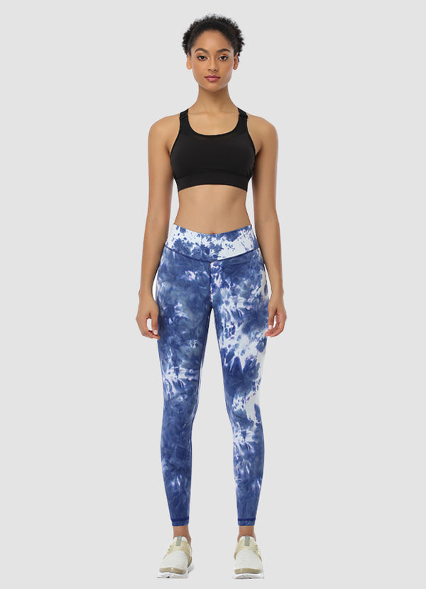 "Newborn High Waist Yoga Leggings 25"" — Tie Dye"