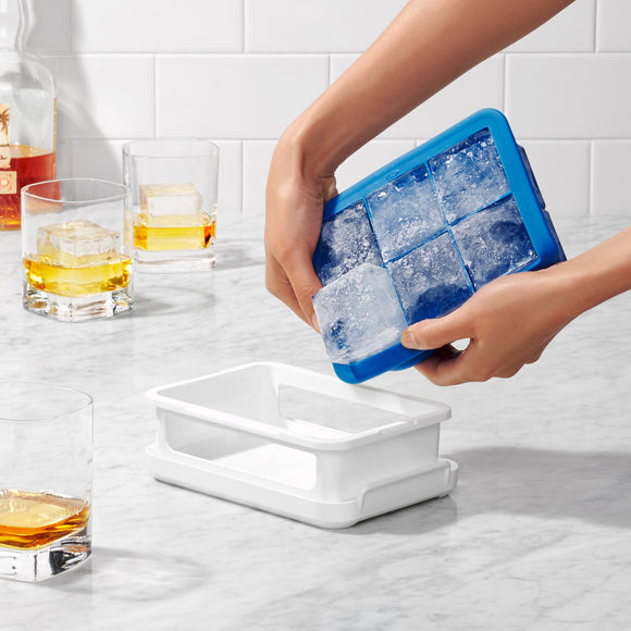 Covered Silicone Ice Cube Tray - Large Cube