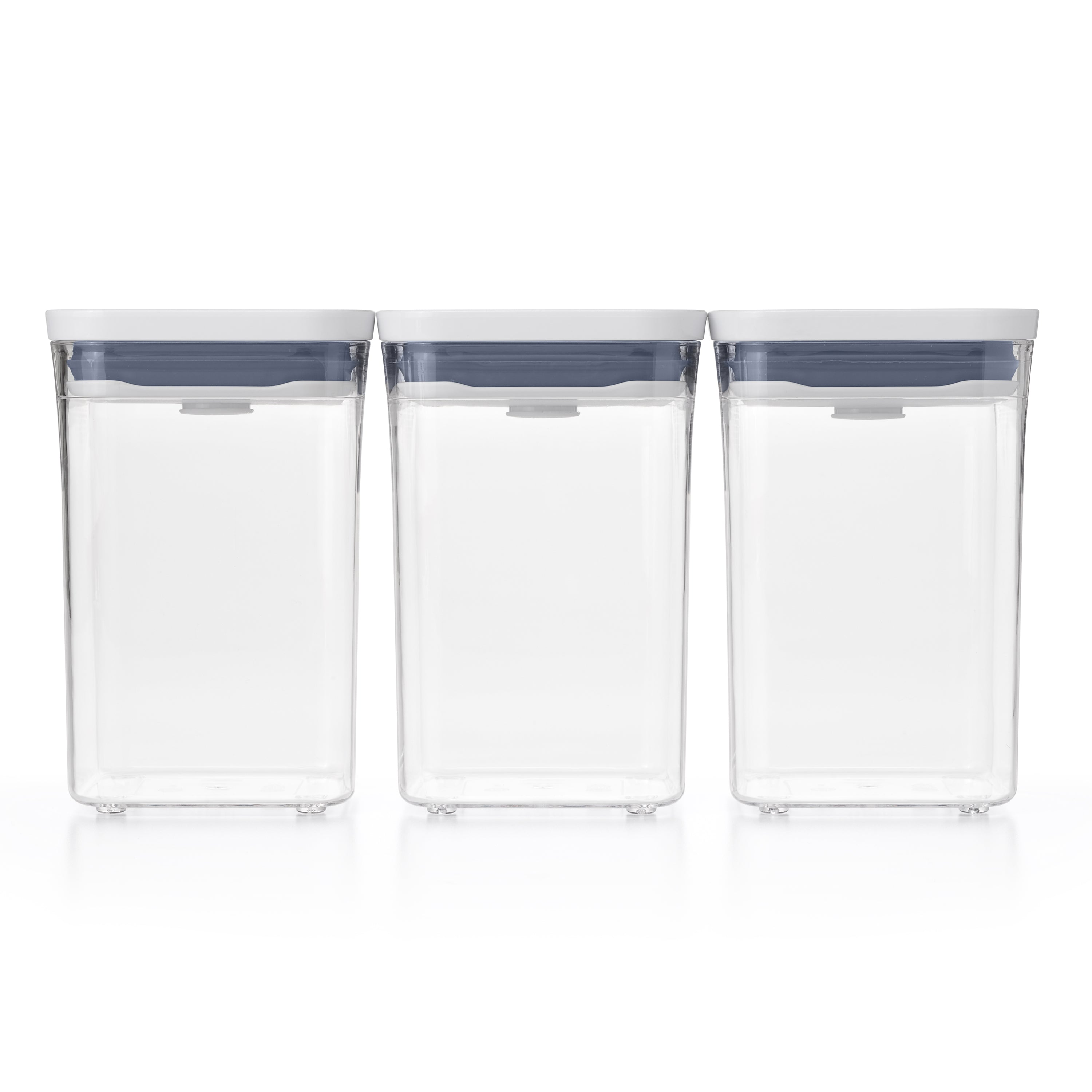 OXO GG 3-PIECE SMALL SQUARE SHORT POP CONTAINER SET