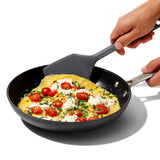 OXO GG SMALL SILICONE FLEXIBLE TURNER - PEPPERCORN