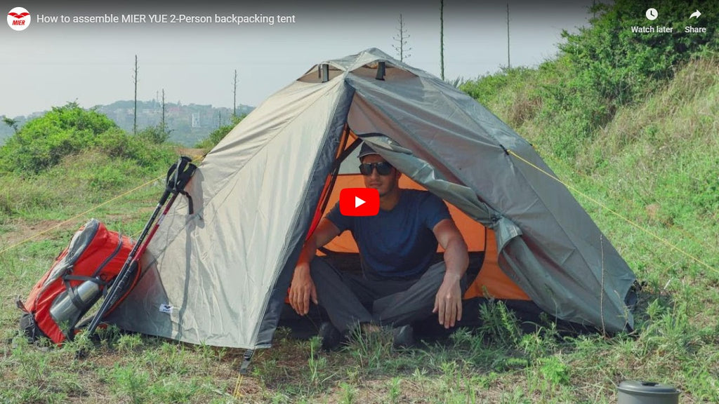 How to Assemble MIER YUE 2-Person Backpacking Tent
