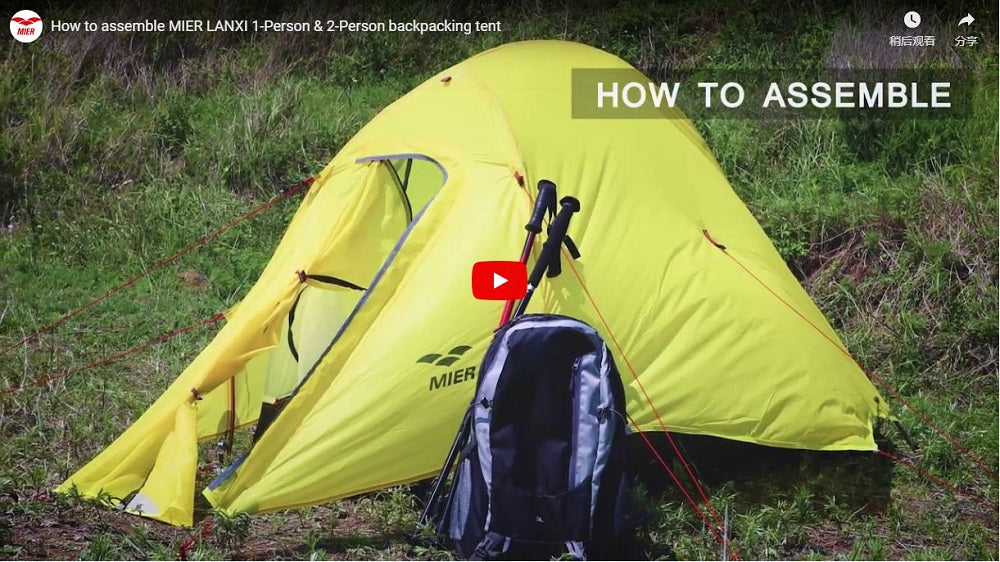 How to Assemble MIER LANXI 1-2 Person Backpacking Tent