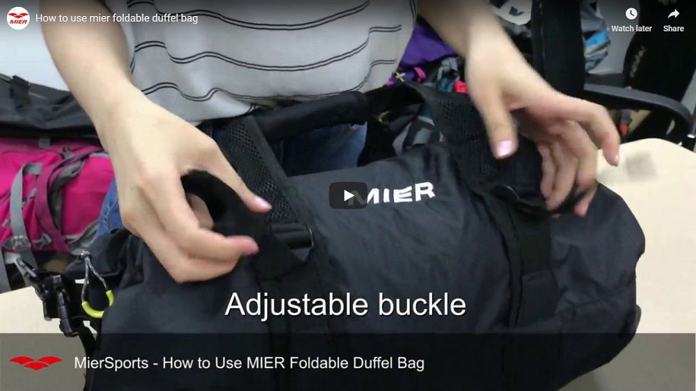 How to Use MIER Foldable Duffel Bag