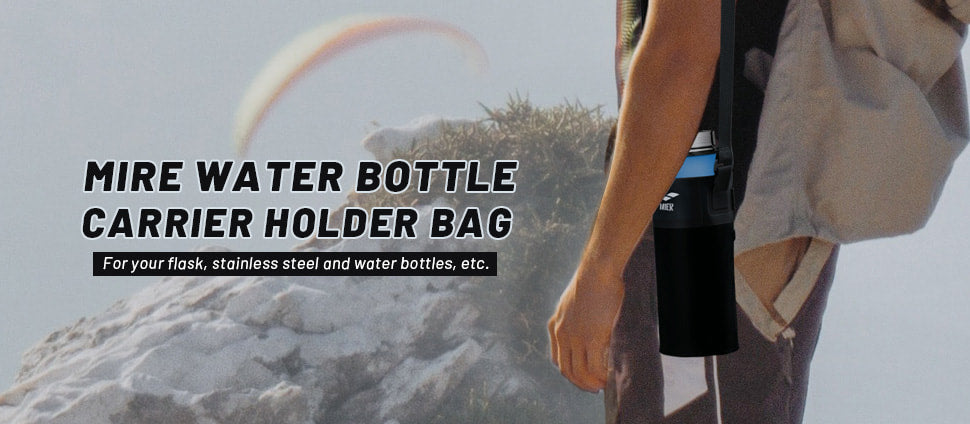 Insulated Water Bottle Carrier with Adjustable Comfortable Shoulder Strap