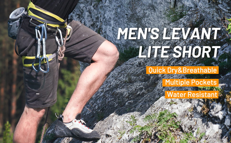 Men Quick Dry Stretch Cargo Shorts with 5 Zipper Pockets