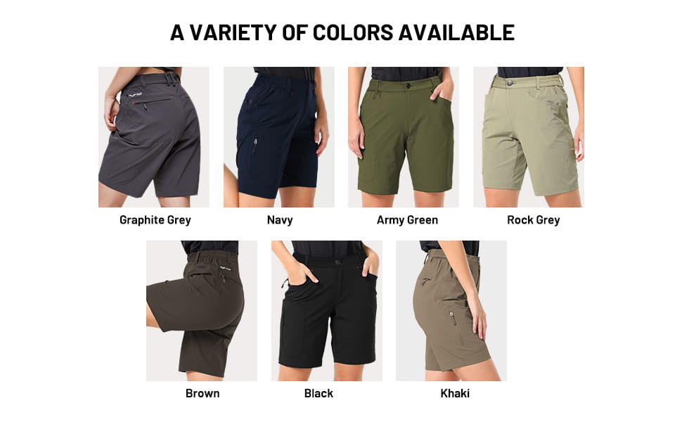 Women Quick Dry Stretchy Hiking Shorts with 5 Pockets