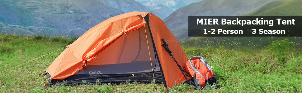 MIER 1-2 Person Backpacking Tent