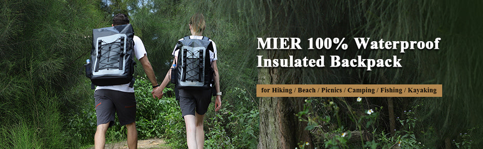 MIER 100% Waterproof Insulated Backpack Cooler