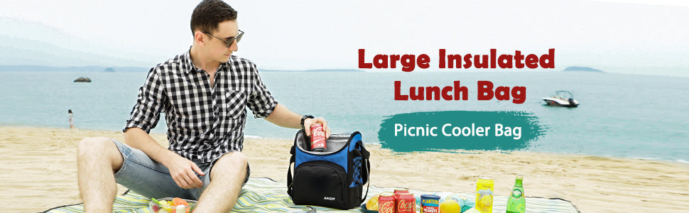 MIER 16 Can Insulated Lunch Box Bag