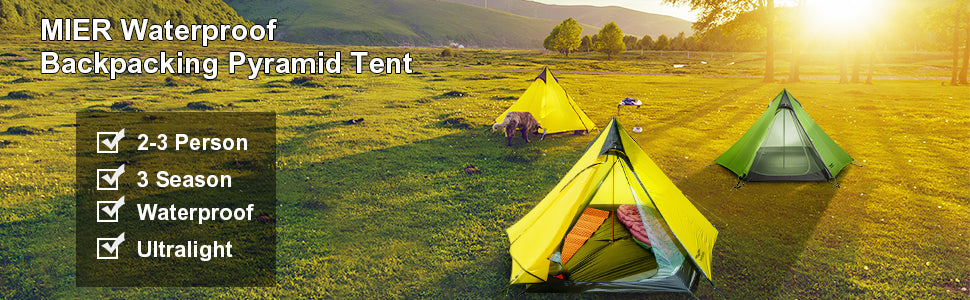 MIER 2-3 Person Ultralight Outdoor Camping Tent