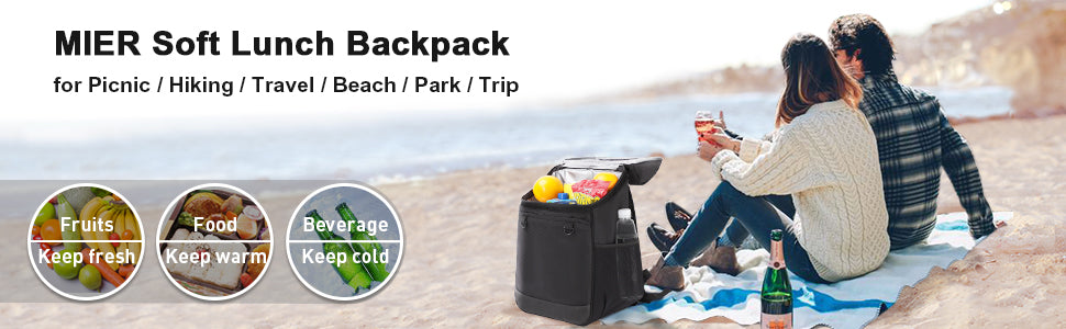 MIER 24 Can Insulated Backpack Cooler