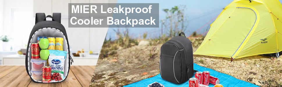 MIER 2 in 1 Leakproof Cooler Backpack