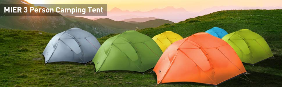 MIER 3 Person Camping Tent