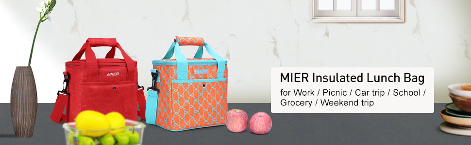 MIER 9 Can Insulated Lunch Bag