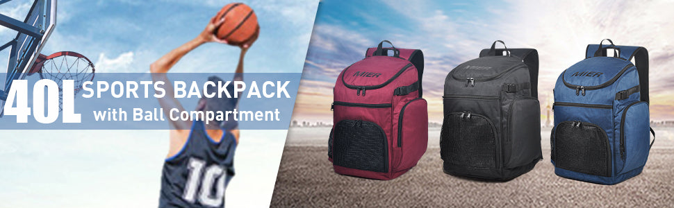 MIER Basketball Backpack Large Sports Bag Banner