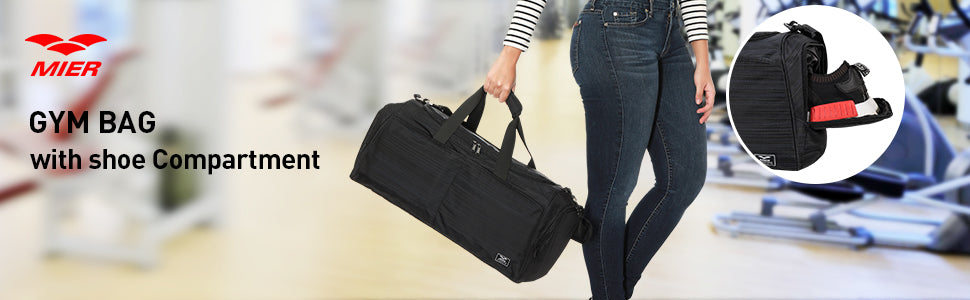 MIER Gym Bag for Women and Men Sports Duffle